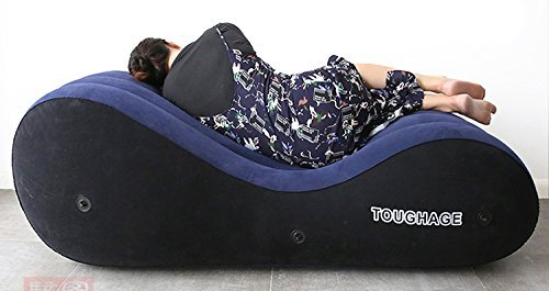 Back to 20s Inflate Air Sofa Bed Ergonomic Curving Design for Maximum Comfortness