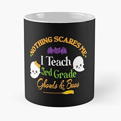 Kimmicsts Third Grade Teacher Cute Halloween Saying Ladies - Gift Coffee Mug 11 Oz Funny]()