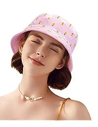 DOCILA Tropical Bucket Hat Cute Pineapple Summer Fisherman Cap Outdoor Travel Sun Hats