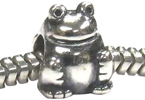Price comparison product image Buckets of Beads Frog Charm Bead Fits Pandora Troll Biagi Zable