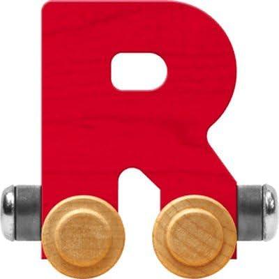 Maple Landmark NameTrain Bright Letter Car R - Made in USA (Red)