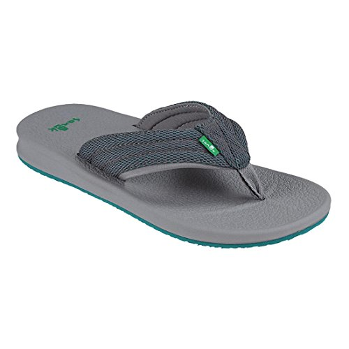 Black Sanuk Flip teal 9 flop Brumeister Men's Charcoal Uk grey nS1qSI