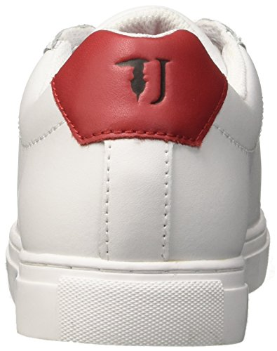 79a00119 Trussardi Women's White Multicolore Low Trainers Jeans Red HHrwqF5