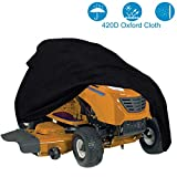 szblnsm Outdoors Lawn Mower Cover -Tractor Cover Fits Decks up to 54' Storage Cover Heavy Duty 420D Polyester Oxford, UV Protection Universal Fit Cover Storage Bag