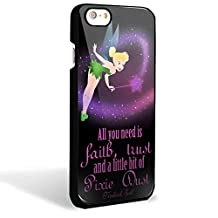 tinkerbell quote design disney tinkerbell for iPhone 6/6s Black case