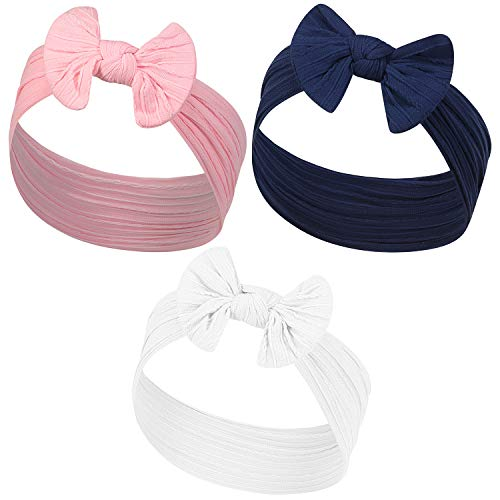 Nylon Baby Bag - YOUR NEW FAVORITE BABY HEADBANDS - 2 PACK - Super Stretchy Knot Newborn & Baby Headbands