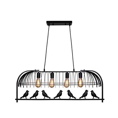 Black Bird Cage Pendant Light in US - 6