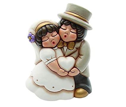 Bomboniere Matrimonio Thun 2019.Thun Coppia Sposini Maxi Romantici Con Cuore