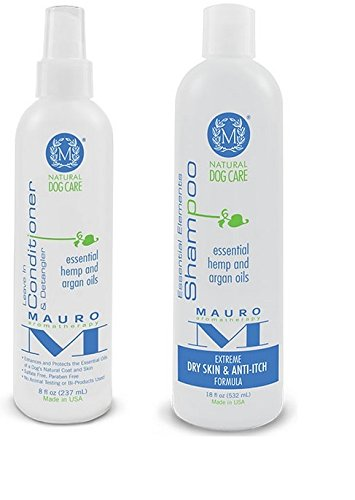 Mauro-Natural-Dog-8-oz-Leave-in-Conditioner-18-oz-Shampoo-Extreme-Dry-Skin-Anti-Itch-Formula