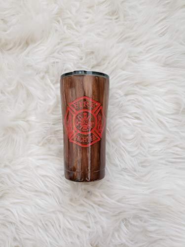 Ozark Trail, Firefighter tumbler, Firefighter Ozark Trail, Firefighter mug, Firefighter Travel Mug, Firefighter, Gift for Him, Personalized Tumbler, Personalized Ozark, Wood Grain Tumbler, Wood Grain