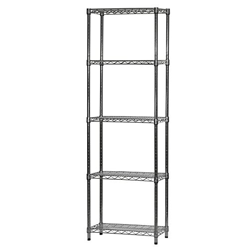 12″ d x 24″ w x 72″ h Chrome Wire Shelving with 5 Shelves – The Super Cheap