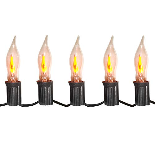 Brite Star Halloween C7 Flicker Flame Lights Clear -