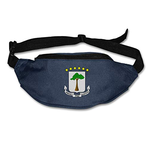 LZZ9UT Coat of Arms Equatorial Guinea Flag Unisex Waterproof Fanny Pack Waist Bag Navy ()