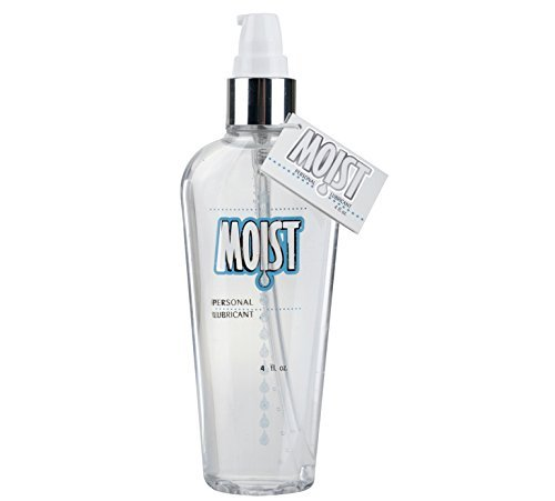 Pipedream Moist Personal Lubricant Lube Crystal Clear, Non-staining and Fragrance-free, Providing Long-lasting Slipperiness : Size 4 Oz. / 118 Ml. by Pipedream Moist