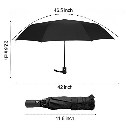 e863716f7309 Details about Automatic Compact Travel Umbrella with Reverse and Safe Lock  Design, HQdeal