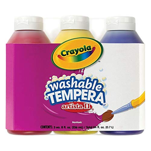 Crayola; Arista II Washable Tempera Paint; Primary Colors