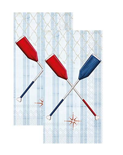 - Ideal Home Range 3-Ply Paper Paddle, 16 Count Guest Towel Napkins Set of 2