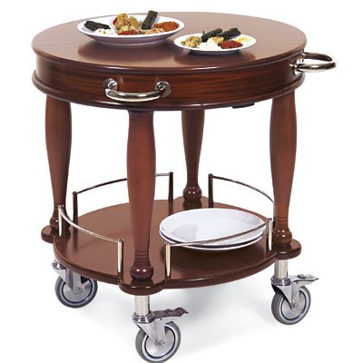 Lakeside Geneva Veneer Bordeaux Finish Serving Cart, 29 1/2 inch Diameter -- 1 ()