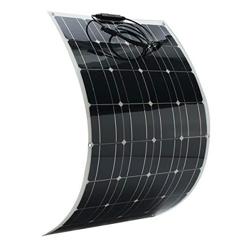 SWEEPID 150W 18V Solarmodul Solarpanel Flexibel Monokristallin Solarzelle für Wohnmobil, Auto, Boot 12V Batterien