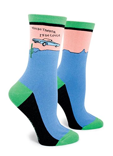 Anne Taintor Women's Cotton Crew Socks - You Be Thelma I'll Be Louise