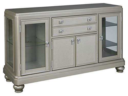 Ashley Furniture Signature Design - Coralayne Dining Room Server - Modern Style - Silver (Hutch And Server)