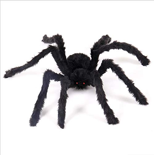 SaveStore 1Pcs New Halloween Horrible Big Black Furry Fake Spider Size 30cm,50cm,75cm Creep Trick Or Treat Halloween Decoration
