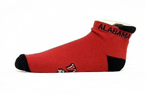 NCAA Alabama Crimson Tide Footie Socks, One Size, Crimson by Donegal Bay