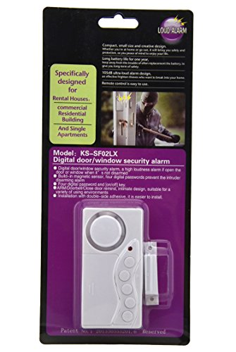 Aweek® Wireless Password Door Digital Door/Window Security Alarm Sensor Magnetic Sensor Detector Anti-theft Entry Security Burglar/ Closing Door Reminder Alarm Function