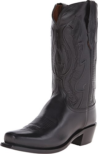 Lucchese Men's Handmade 1883 Cole Cowboy Boot Square Toe Black 8.5 D(M) US
