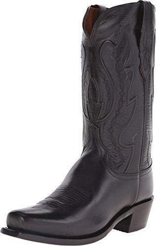 (Lucchese Men's Handmade 1883 Cole Cowboy Boot Square Toe Black 8.5 D(M) US)