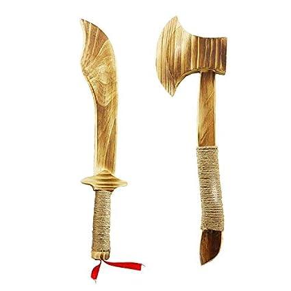 Zhou-long - Juego de Cuchillos de Madera para niños, Hecho a ...