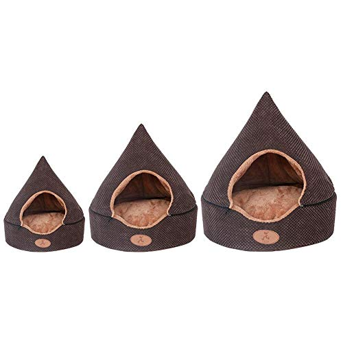 Lamptti Cat Tent Cave, Four Seasons Universal Warm Pet House, Removable Washable Triangle Cat Bed, for Puppy Cat Rabbit Pig