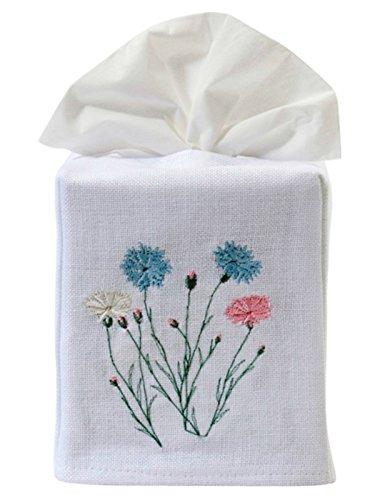 - Jacaranda Living Linen/Cotton Tissue Box Cover, Wildflowers, Pastel
