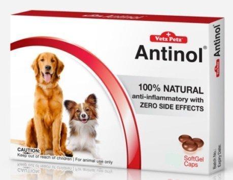 Vetz Petz Antinol Extract 100% Anti-inflammatory and Pain Relief 60 Tablet.