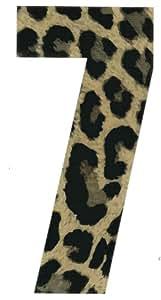Wheelie Bin Numbers Leopard 7