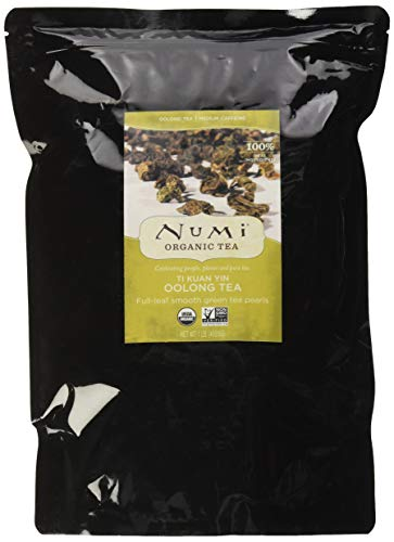 - Numi Organic Tea Ti Kuan Yin, 16 Ounce Pouch, Loose Leaf Oolong Tea (Packaging May Vary)