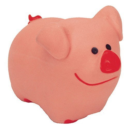 Lil Toy Coastal Pals (Li L Pals Latex Pig Dog Toy, Color: Pink, Size: 3 Inch (2-Pack))