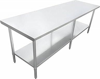 Zanduco - Mesa de trabajo de acero inoxidable, 61 x 91,4 cm ...