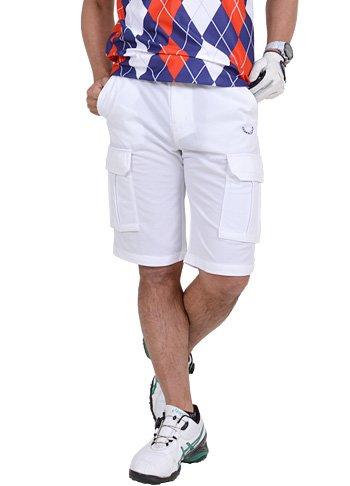 【コモンゴルフ】 COMON GOLF メンズ 吸汗 速乾 ストレッチ カーゴタイプ ゴルフ ショート パンツ CG-SNG701
