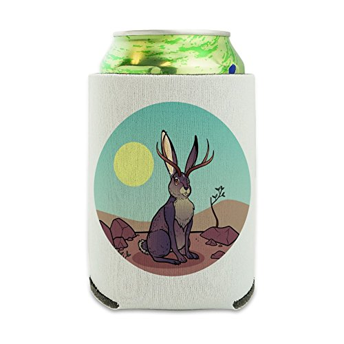 Cartoon Jackalope Can Cooler - Drink Sleeve Hugger, used for sale  Delivered anywhere in USA