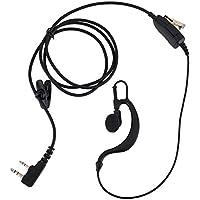 KEYBLU Walkie Talkie Earpiece Headset for Kenwood Radio G Shape 2 Pin