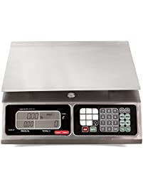 TORREY LPC40L Electronic Price Computing Scale, Rechargeable Battery, Stainless Steel Construction, 100 Memories, 8...