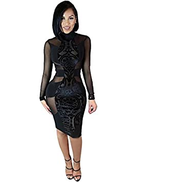 Vestido negro con mallas