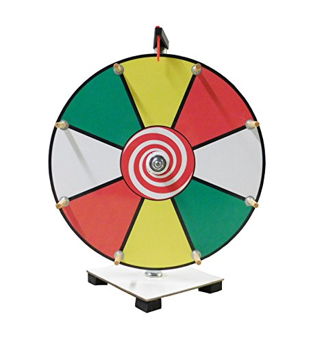 Read About Prize Wheel 12 inch Color Face Classic Wooden Peg Design