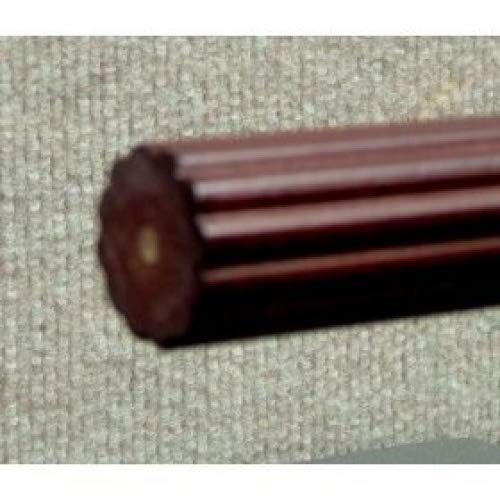 - 1-3/8 inch Wood Fluted Drapery Rod in Mahogany Finish - 4' long