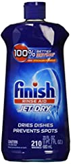 Finish Jet-Dry Rinse Aid has 5x Power Actions and a Glass Protection ingredient for shinier & drier dishes vs. detergent alone. For optimal results, use with your detergents. Experience shiny dishes and spot & film protection (vs. dis...