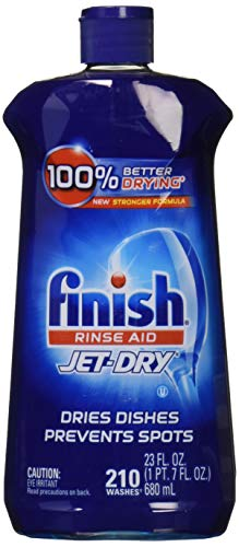 Finish Jet-Dry Rinse Aid, 23oz, Dishwasher Rinse Agent & Drying Agent (Natural Clean Sparkling)