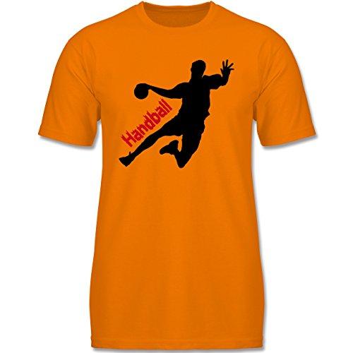 Sport Kind - Handball - 128 (7-8 Jahre) - Orange - F140K - Kinder T-Shirt für Mädchen und Jungen