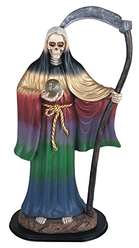 Major-Q G90324.58rb 24 Resin Santa Muerte Our Lady of Holy Death Catholicism Statue Collectible Figurine in Rainbow