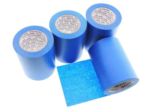 1 Roll 6'' inch WIDE 3D Printing Made In USA PRO Grade Blue Painters Tape Masking Clean Release Easy Removal NO RESIDUE (144MM x 55M 5.7 inch). 3D Printer bed grip deck cover 3D Prints Removal 60 Yd